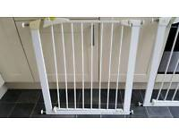 Two Mothercare pressure fit stairgates