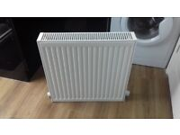 KUDOX 600mm x 600mm DOUBLE CONVECTOR RADIATOR WITH BRACKETS AND VALVES