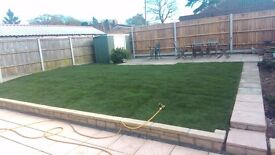 Grass hedge cutting service. turfing. full garden service
