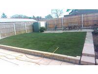Grass hedge cutting service. turfing. full garden service