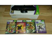 Xbox360 Kinect & 4 games