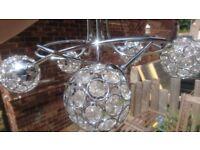 Modern chrome chandelier light fitting
