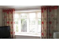 Next curtains and matching cushions, fully lined, very good condition