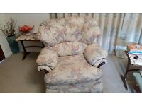 2 armchairs and footstool