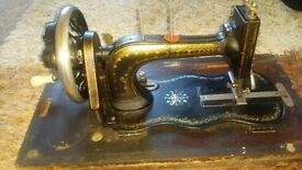 Antique sewing machine Harris