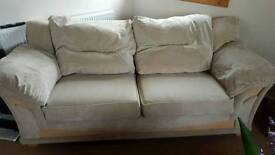 Cream Fabric Couch