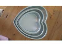 Wilton heart cake tins