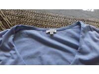 Jigsaw power blue jersey top