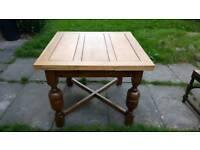 Oak extended table