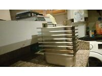 6 stainless steel containers good condition
