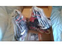 BNWT and the box Salomon Crossmax 3 inline skates, Made in EU, size UK 8.5, Eur 42 2/3, JPN 27cm