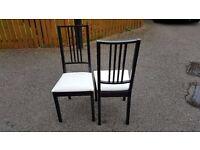 2 Ikea Black & White Borje Chairs FREE DELIVERY (02098)