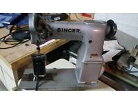 Singer twin needle post bed sewing machine