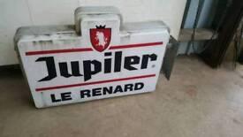"""Belgian """"Jupiler"""" beer sign"""