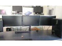 "3x 24"" FHD monitors with bracket/ no stands"