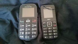 2 alcatel phones