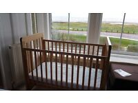 Solid wooden baby's cot