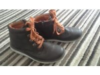 Boys size 4 leather boots