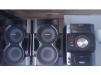 Hi I'm selling a Sony genezi music system