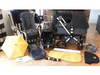 BLACK BUGABOO CAMELEON2 PRAM + MAXI COSI CAR SEAT & MANY EXTRAS-RRP£1140.00