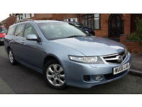 2006 HONDA ACCORD ESTATE 2.2 CTDI EX, FACE LIFT 6 SPEED MANUAL, SATNAV, LEATHERS, FSH, MOT JAN £1300