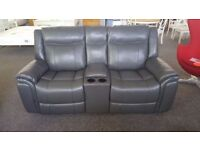 ScS Baxter 2 Seater Recliner Sofa with Console & USB Ports FREE DELIVERY DERBY NOTTM Viewing Welcome