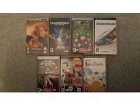 Sony PSP Games in an excellent used condition - 7 games