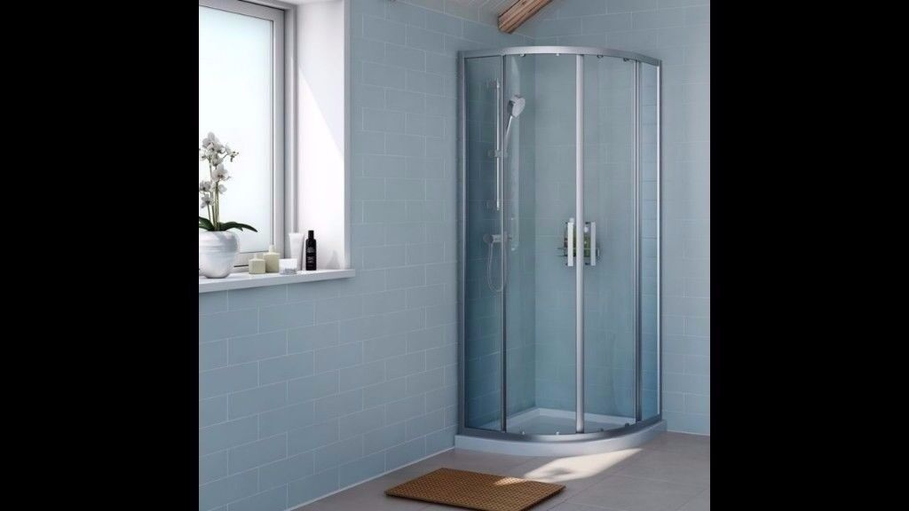 NEW COOKE & LEWIS EXUBERANCE QUADRANT SHOWER ENCLOSURE, +TRAY + ...