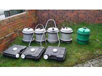 fresh water/waste water barrels