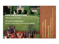 Landscaping and gardening services, free quotation given.
