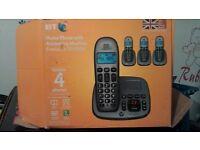 Quad set of bt phones with answer machine