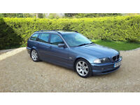 BMW 3 Series Touring 328i SE E46 Steel Blue Metallic with Witter Towbar FSH