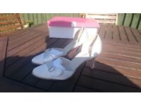 ivory satin wedding shoes, would suit prom/party