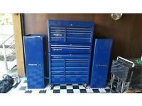 SNAP ON TOOL BOX and SIDECAB with TROLLEY and TOOLS.