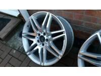 "1 x Single 19"" Mercedes AMG SPIDER Twin 7 Spoke ALLOY Diamond Cut A2124011900 8.5j"