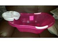 Large Pink baby bath and top and tail bowl