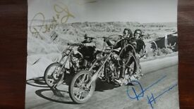 signed easy rider photograph with certificate of authenticity.