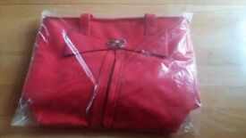 Brand New Red Bag, selling for £5