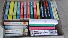 52 books. Crime, thriller, romance