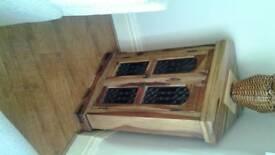 Jali solid sheesham corner cabinet