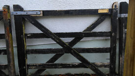 pair of 5 bar wooden driveway gates
