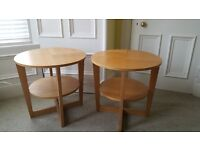 Ikea VEGMON oak coffee table and two side tables, built, worth £230 new