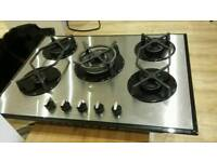 CDA 5 burner gas hob 700mm wide