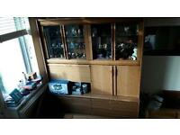 Wooden and glass display cabinet/sideboard.
