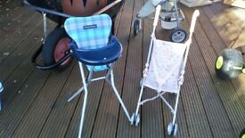 Baby Annabell Stroller & Mamas & Papas High Chair for Dolls