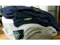 3 STONE ISLAND JUMPER JACKET HOODIES SIZE L / XL FOOTBALL CASUALS