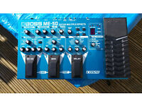 TOP QUALITY BOSS ME50 MULTI EFFECTS PEDAL FOR GUITAR (Plus FFS -5U Footswitch)