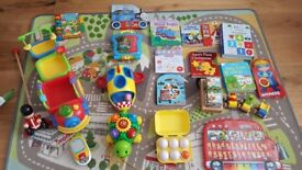 Selection of toys and books V Tech VTech peppa pig
