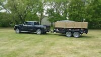 Garbage removal trash renovation dump trailer bin shingles junk