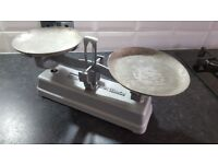 Vintage French iron balance weighing scales